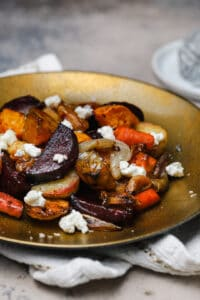 Roasted root vegetables with selles sur cher