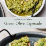 Green Olive Tapenade pinterest graphic