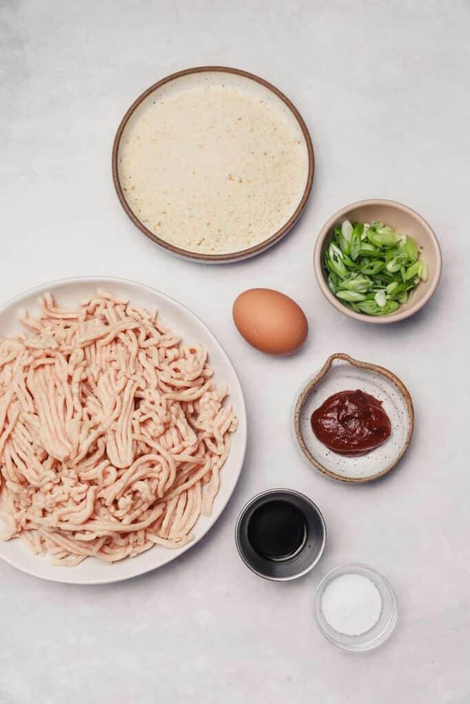 Ingredients for Korean meatballs