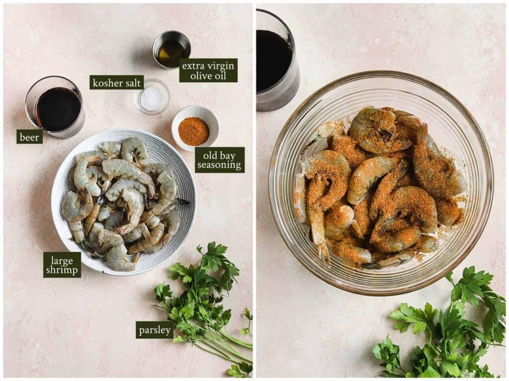 Ingredients for old bay shrimp
