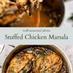 Stuffed chicken marsala pinterest graphic