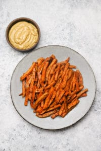 Sweet potato fries with chipotle aioli