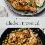 Chicken provencal pinterest graphic