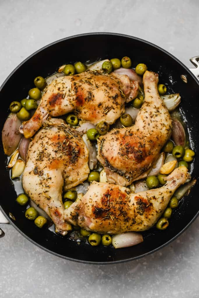 Chicken provencal with green olives