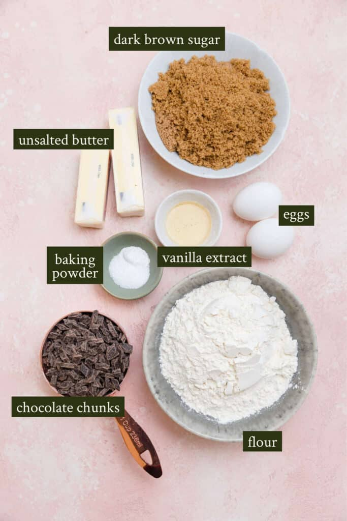 Ingredients for Browned butter blondies