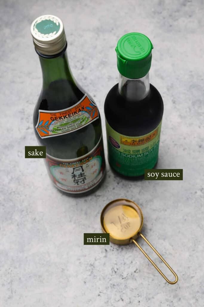 Ingredients for Teriyaki sauce
