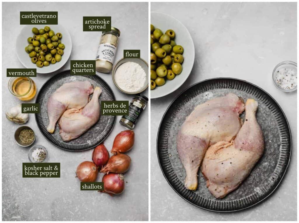 Ingredients for herbs de provence chicken