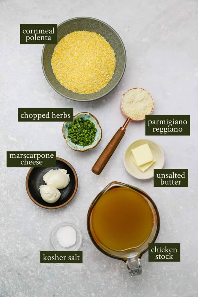 Ingredients for polenta fries