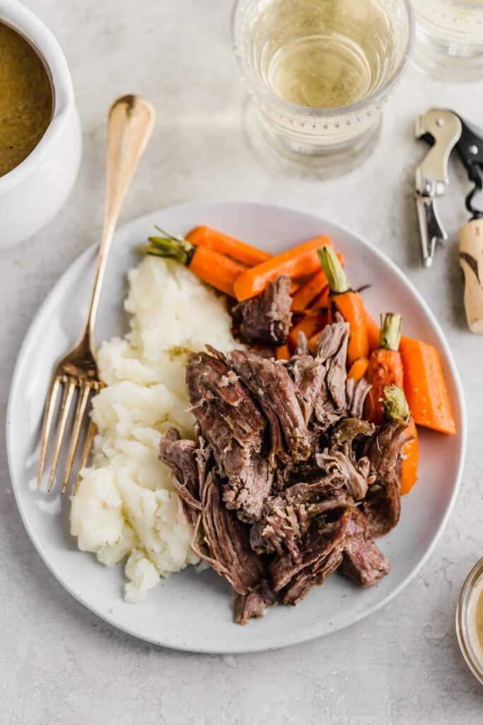 Passover lamb on a plate