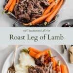 Passover lamb pinterest graphic