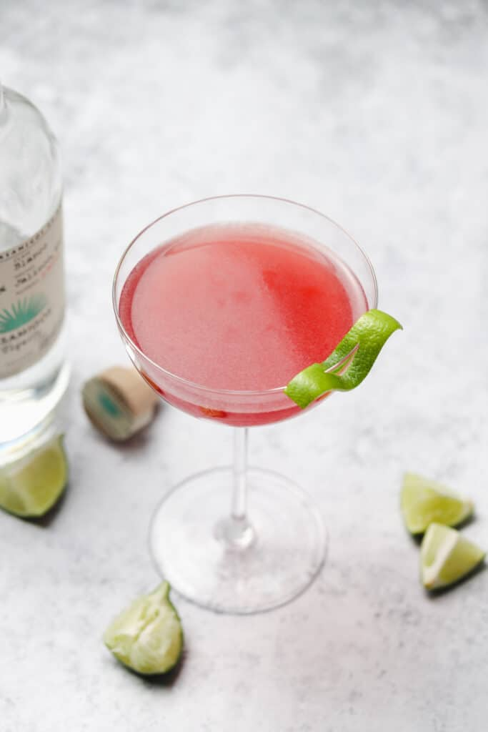 Teqila cocktail with lime