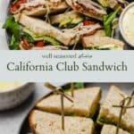 California Club sandwich pinterest graphic