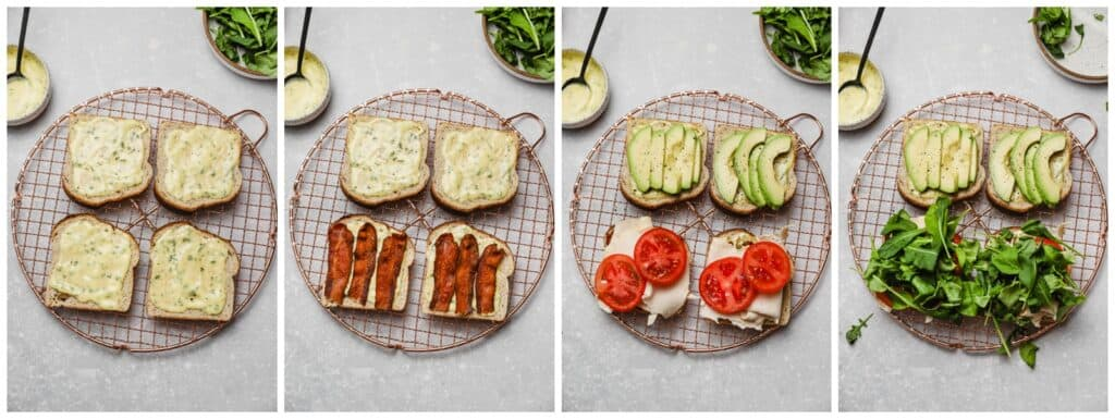 How to assemble a club sandwich
