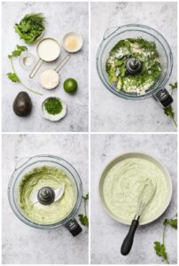 How to make avocado lime ranch dressing in a food processor