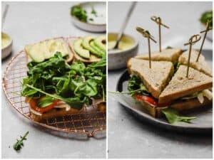 How to slice a club sandwich