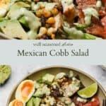 Mexican Cobb Salad pinterest graphic