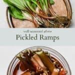Pickled ramps pinterest graphic