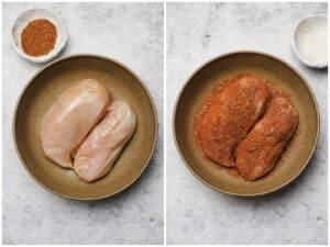 Seasoned chicken for cobb salad