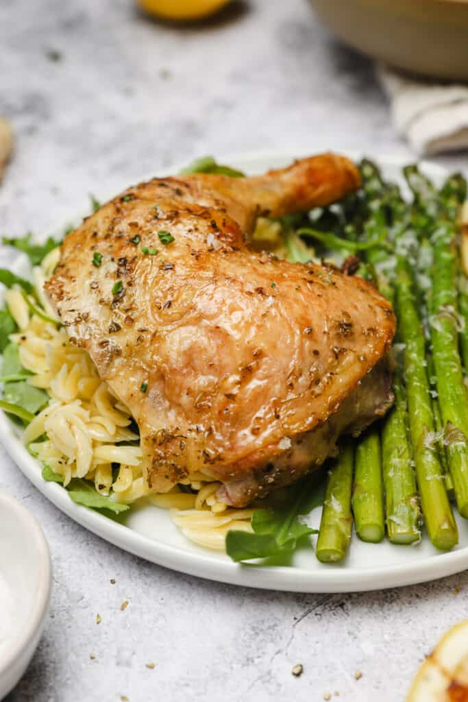 Chicken thigh with lemon and oregano