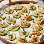 Cucumber Slices with Salmon