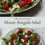 House Arugula Salad pinterest graphic