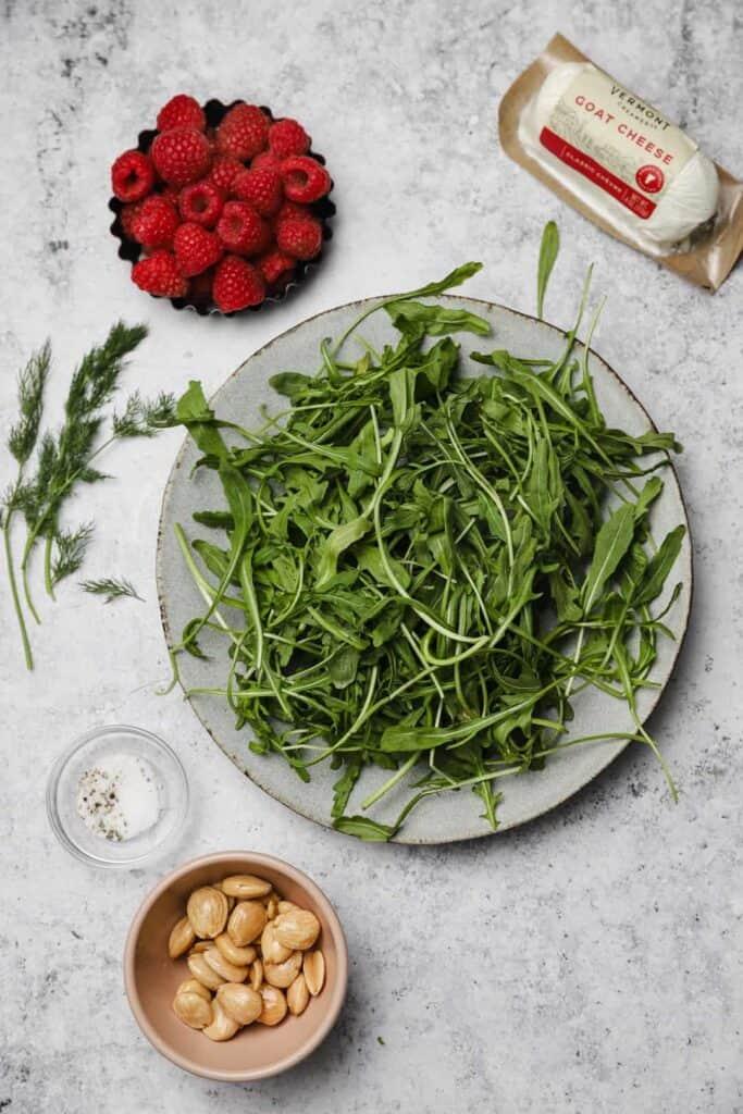 Ingredients for arugula salad
