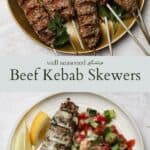 Beef kebab pinterest graphic