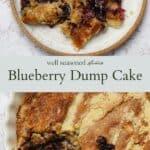Blueberry dump cake pinterest graphic