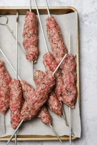 Precooked kebabs