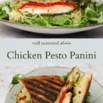 Chicken pesto panini pinterest graphic