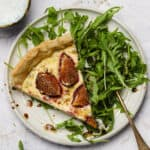 Goat cheese tart with figs and balsamic