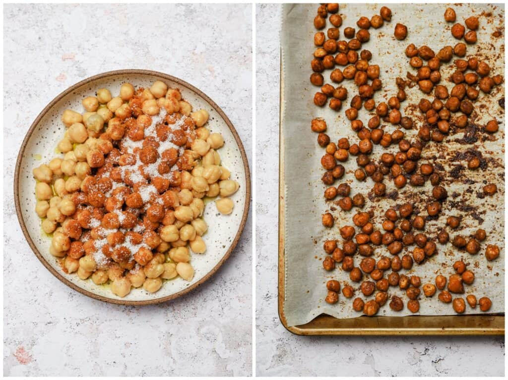 How to make roasted chicpeas with tandoori spice
