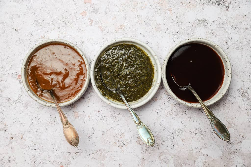 Indian sauces for loaded sweet potatoes