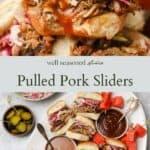 Pulled Pork Sliders pinterest graphic