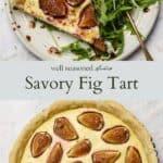 Savory fig tart pinterest graphic