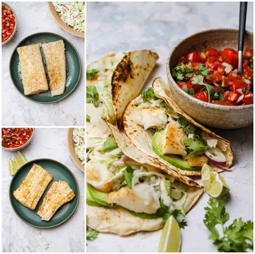 Grilled cod fish tacos