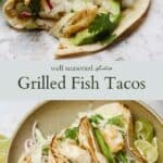 Grilled fish taco pinterest graphic