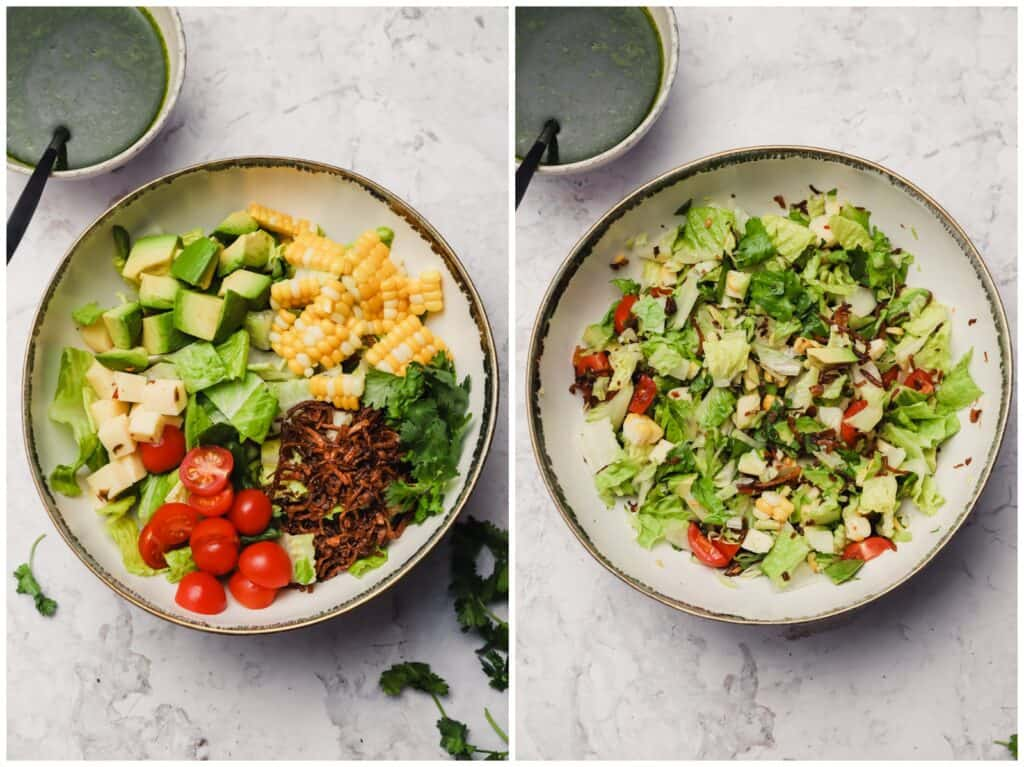 How to make a chopped salad
