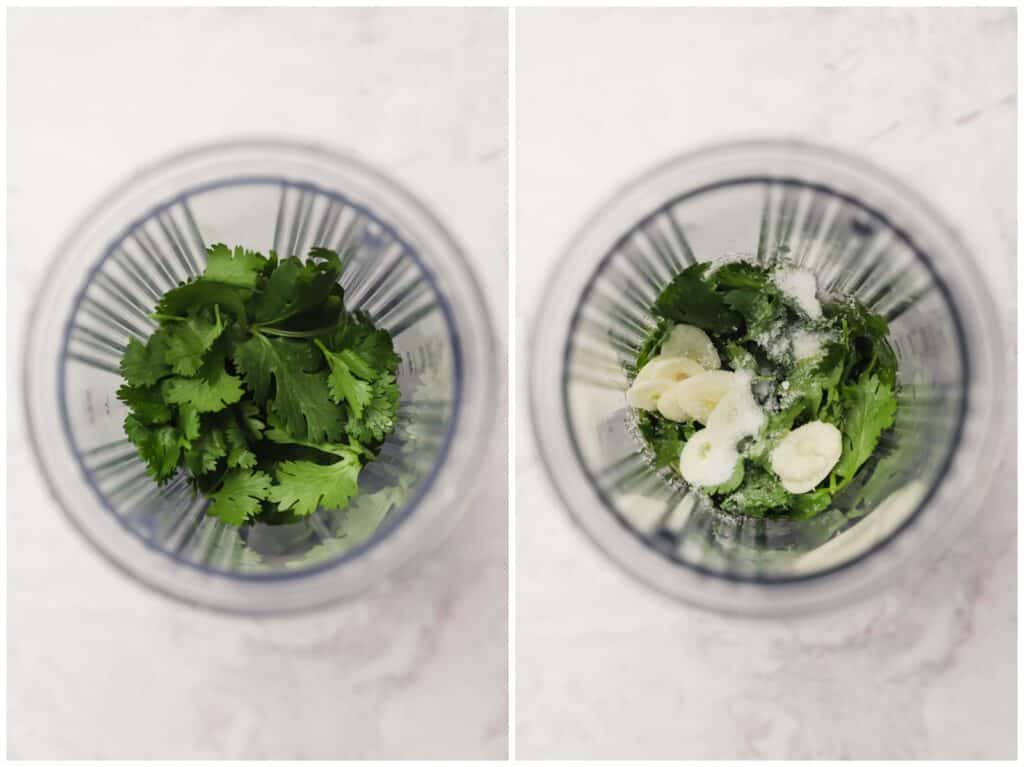 How to make cilantro lime dressing in a blender