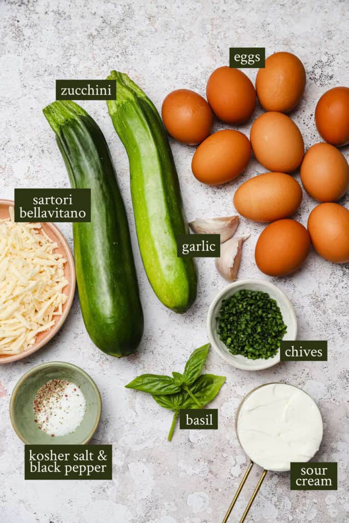 Ingredients for summer frittata