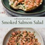 Smoked salmon pinterest graphic