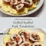 Stuffed pork tenderloin pinterest graphic
