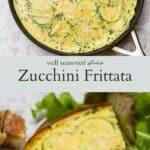 Zucchini frittata pinterest graphic