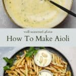 How to make aiolli pinterest graphic