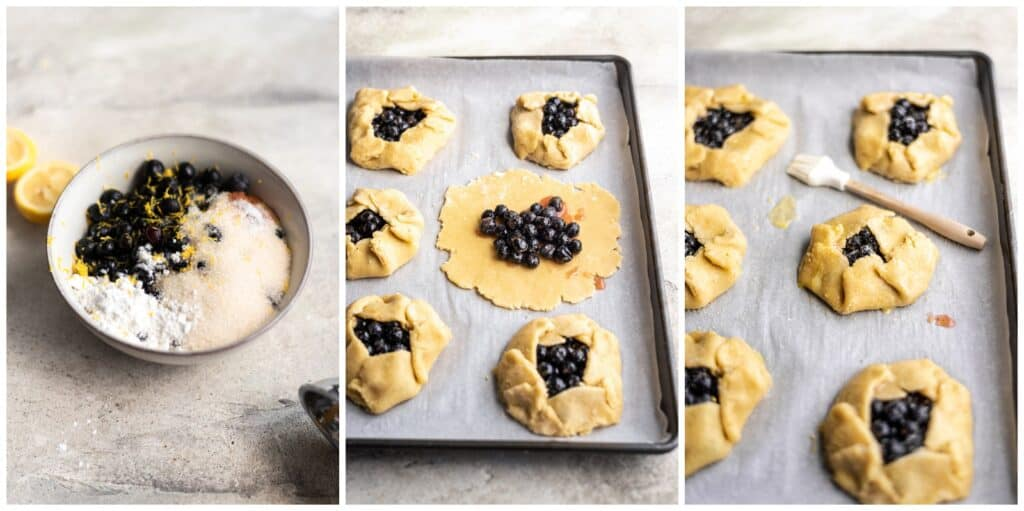 How to make blueberry galettes with pie dough