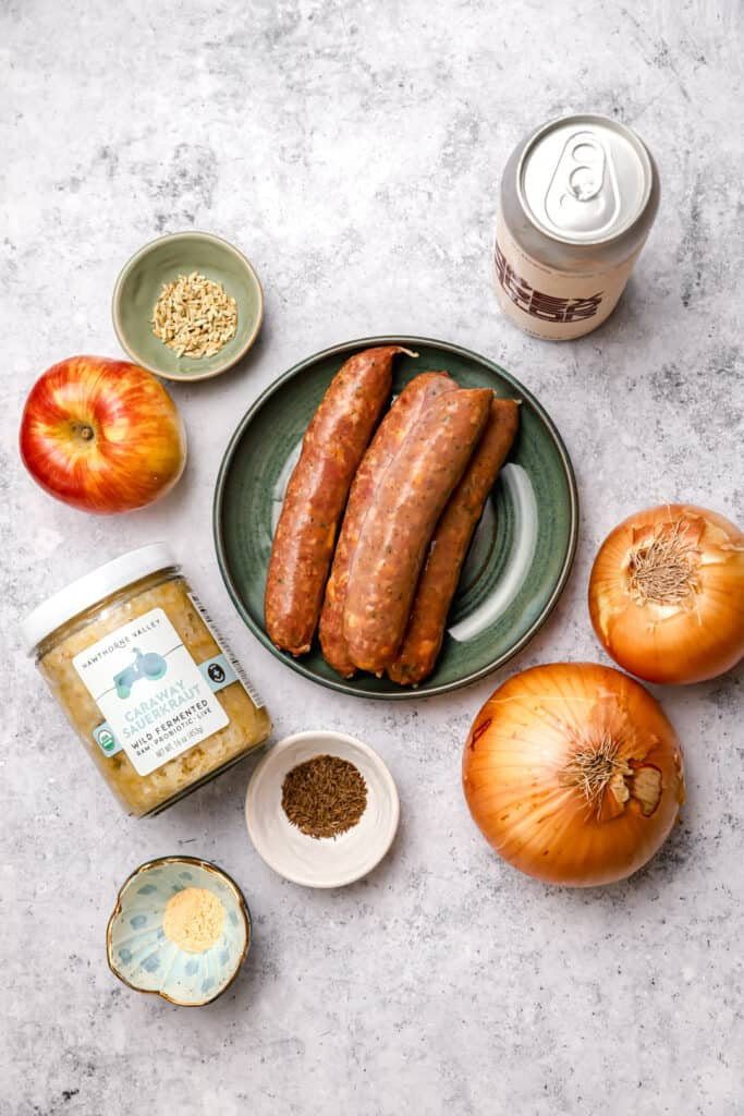 Ingredients for baked brats