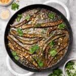 Miso glazed eggplant with peanuts and cilantro