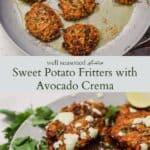 Sweet potato fritters pinterest graphic