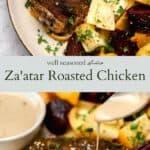 Za'atar roasted chicken pinterest graphic