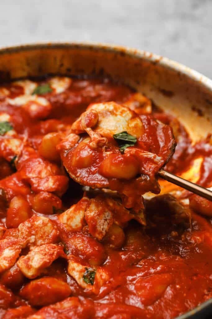 Gnocchi alla sorrentina with fresh basil